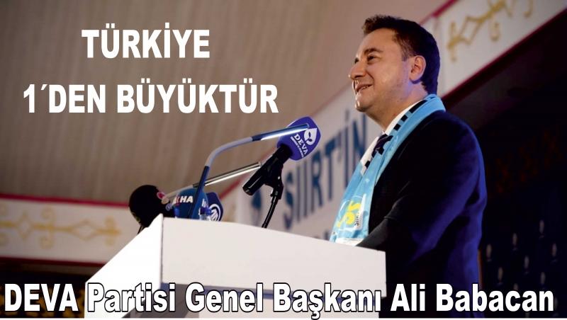Babacan Siirt'ten Cumhurbaşkanı Erdoğan'a Siirt göndermesi!