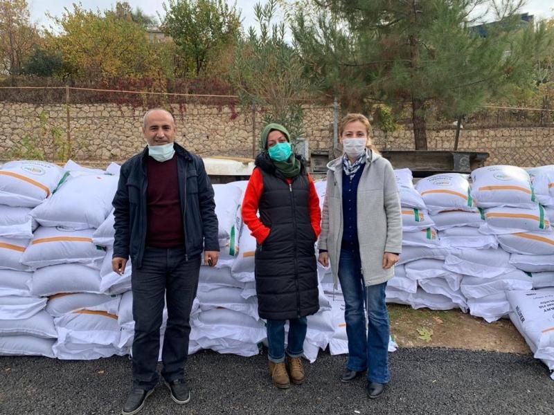 Çiftçilere 38 ton yem bitkisi tohumu dağıtıldı