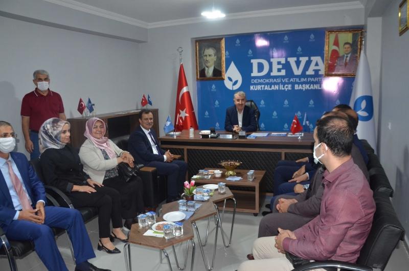 DEVA Partisi Heyeti,Kurtalan  Esnaflarını Ziyaret Etti