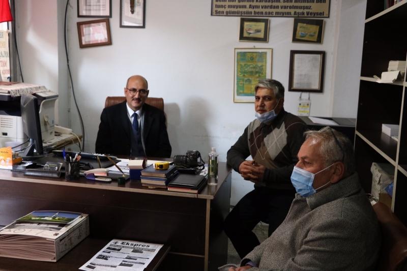 Kaymakam Aydın, Gazeteciler Günü Dolayısıyla Gazetemizi Ziyaret Etti