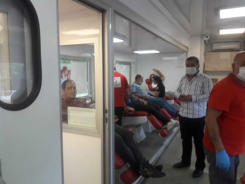 Kurtalan'da Kızılay kan bağışlarını topladı