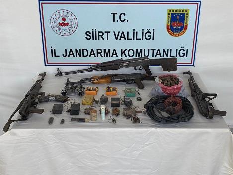 PERVARİ'DE PKK'NIN CEPHANELİĞİ BULUNDU