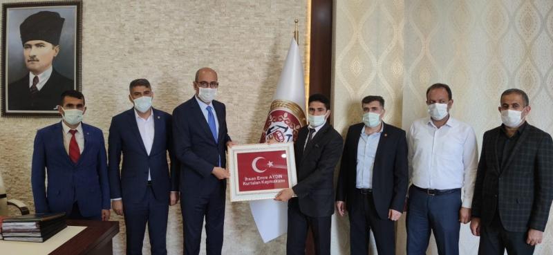 Şehit Gazi Birlik-Sen'den Kaymakam Aydın'a Ziyaret