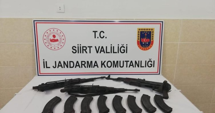 Siiirt Tillo'da silah ve mühimmat ele geçirildi