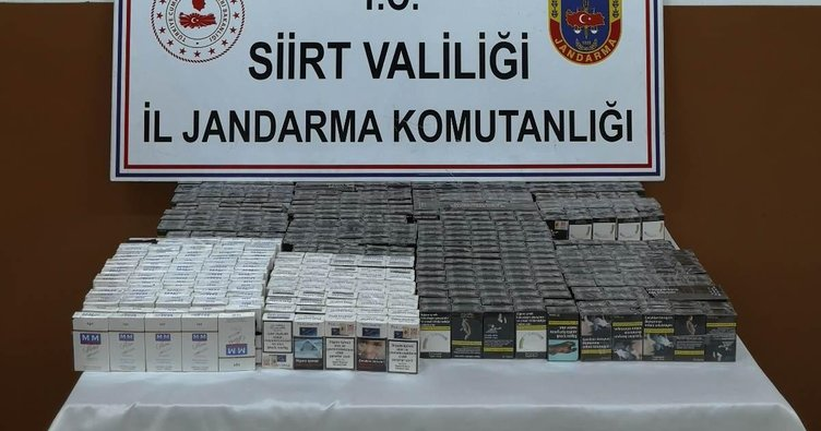 Siirt'te 580 paket kaçak sigara ele geçirildi