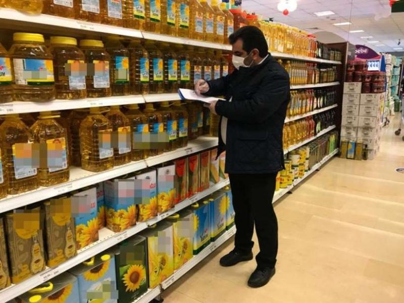 Siirt'te fahiş fiyat artışına karşı büyük marketler denetlendi