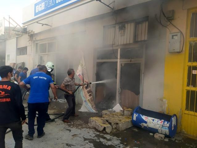 Siirt'te işyerinde çıkan yangın korkuttu