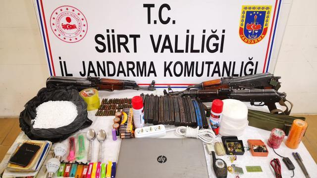 Siirt'te PKK'ya ait çok sayıda mühimmat ele geçirildi
