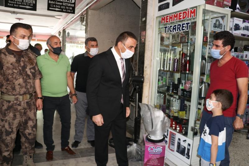 Vali Hacıbektaşoğlu, Kovid-19 tedbirlerini denetledi