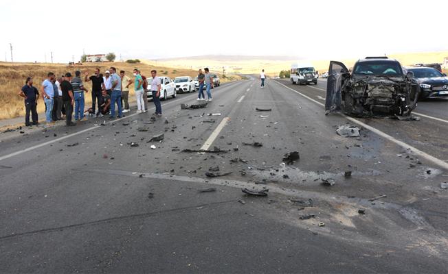 Kayabağlar belde belediye başkanı aracı kaza yaptı