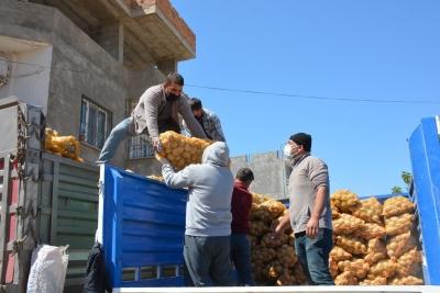 Patates ve Soğan ihtiyaç sahibi Ailelere Dağıtılmaya Başlandı