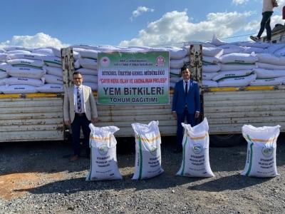 Siirt'te 23 Bin 600 Kg Fiğ Tohumu Dağıtıldı